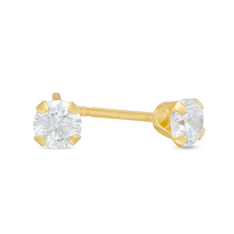 htm diamond dome earrings yellow cut half p product stud gold