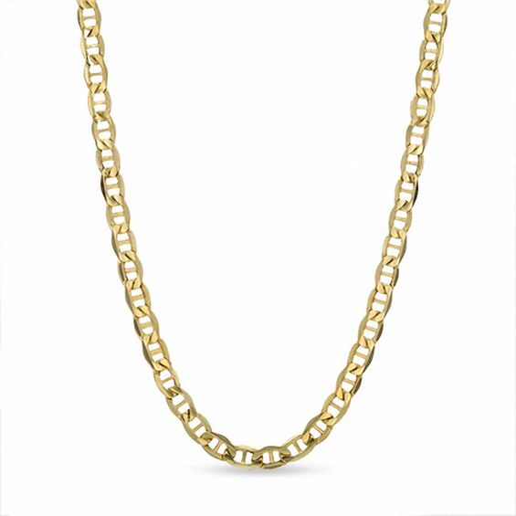 yellow dp necklace amazon s men gold flat chain com mariner italian