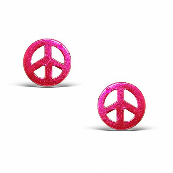peace earrings silvercloseout silver sterling stud sign products