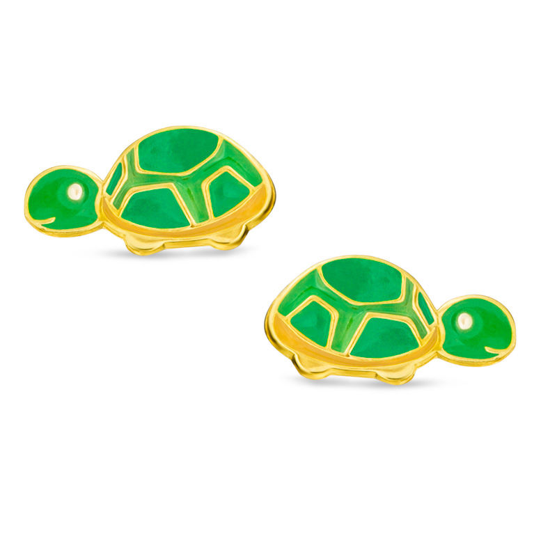 stud l earrings sea turtle asos sterling silver nikajewellery