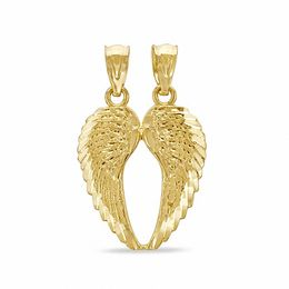 Breakable Wings Necklace Charm in 10K Gold