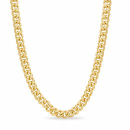 Men's RM® Bronze with 14K Gold Plate 8mm Cuban Link Chain Necklace - 30""