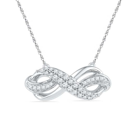 Sterling Silver Infinity Loop Pendant/Necklace - Chain 20
