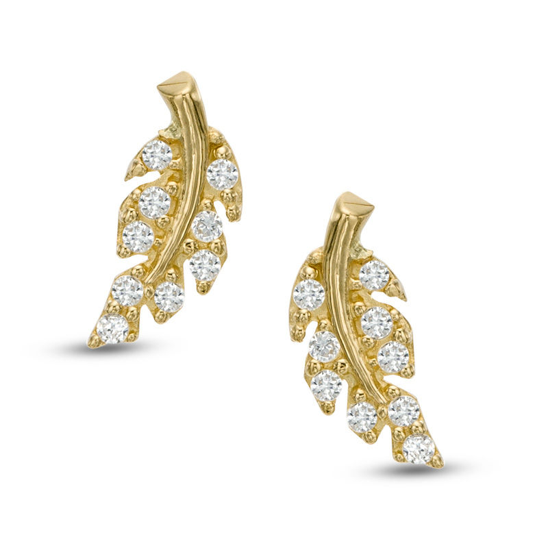 fuzion stud pin gold zirconia earrings zulily by zulilyfinds pav emerald cubic creations
