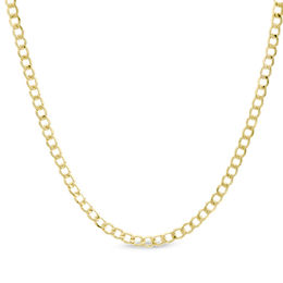 10K Gold 060 Gauge Curb Chain Necklace - 20""