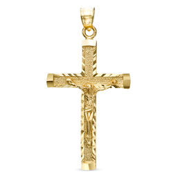 Crucifix Necklace Charm in 10K Gold