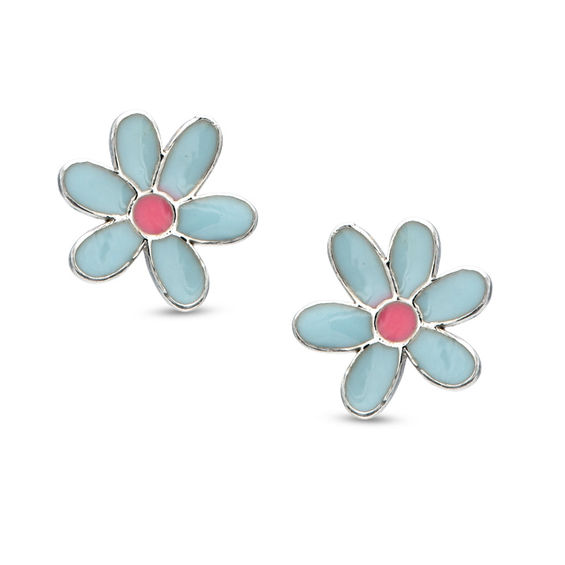 buy boutique uneak stud swirl light earrings enamel blue for products