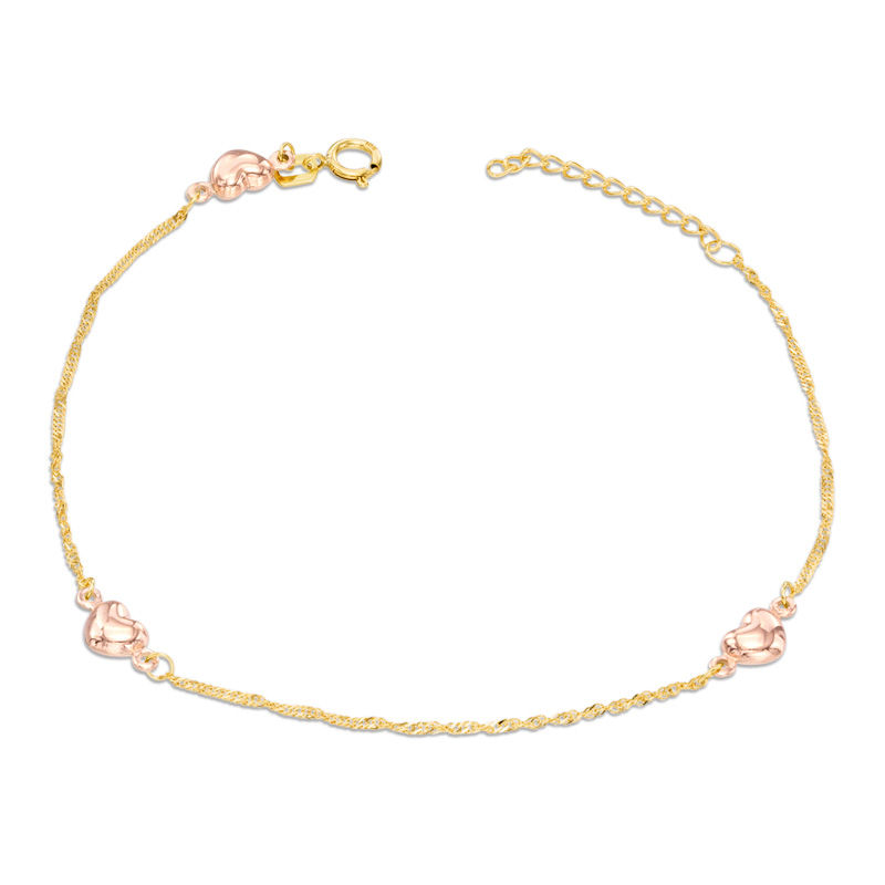 diamond cut dolphin anklet tone products gold two