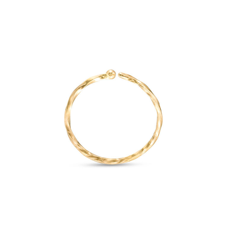 020 Gauge Twist Nose Ring In 14k Gold 5 16 View All Jewelry