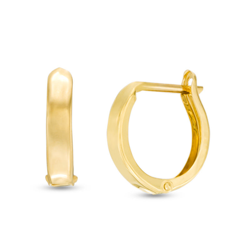 Men S Huggie Hoop Earrings In 14k Gold