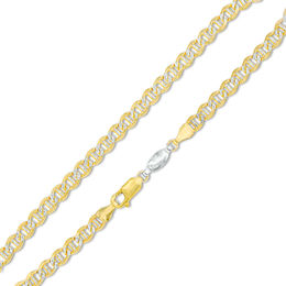 14K Gold over Sterling Silver Mariner Chain Anklet - 11""