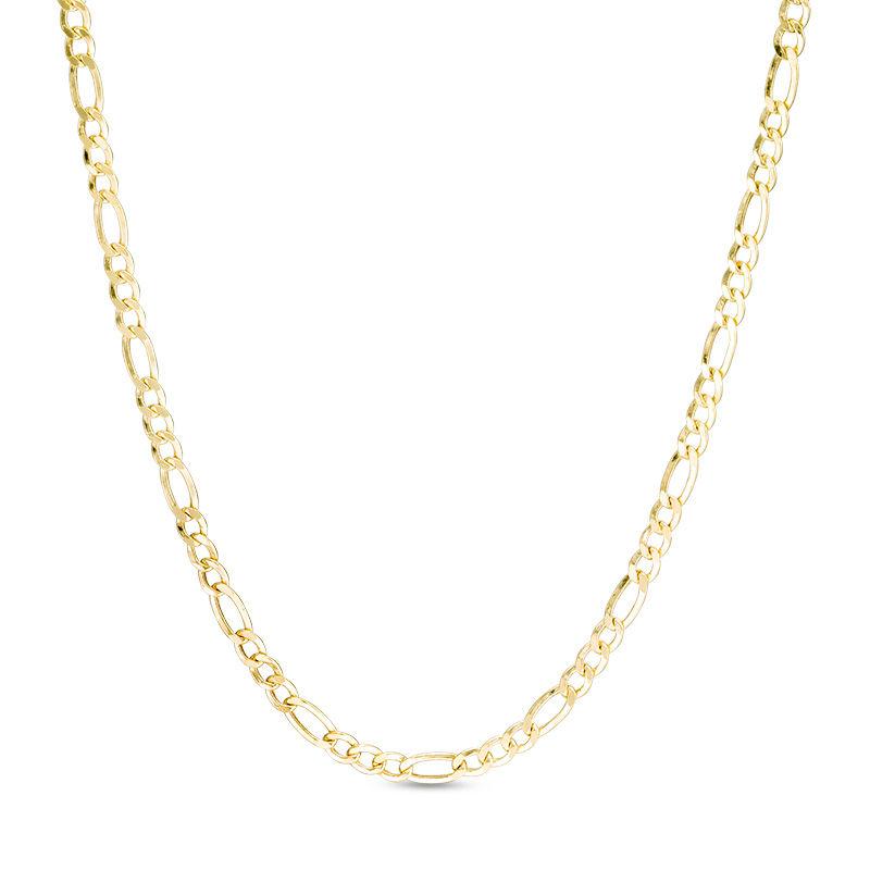 Ladies 060 Gauge Diamond Cut Figaro Chain Necklace In 14k Gold