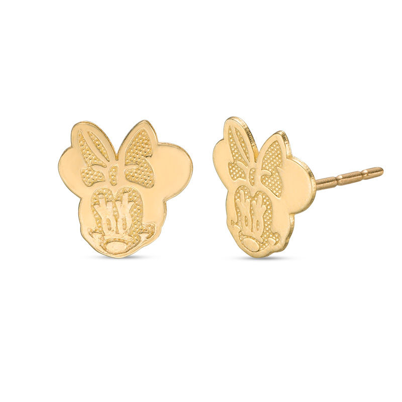 Child S Disney Minnie Mouse Multi Finished Stud Earrings In 10k Gold