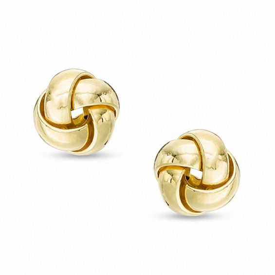 Made In Italy Large Love Knot Stud Earrings 14k Gold