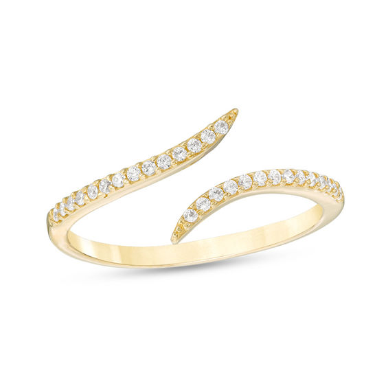 bypass white and sapphire diamond ring rings gold