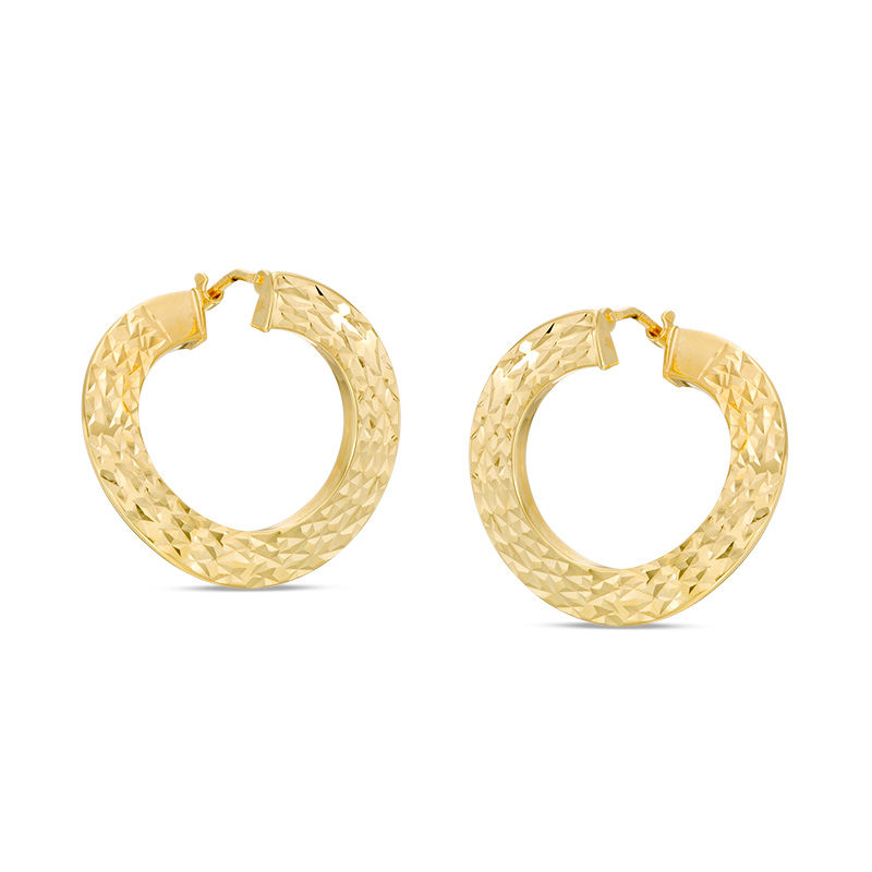 little switzerland products earrings gold hoop