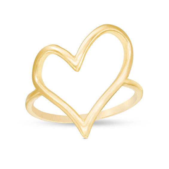 Heart Outline Ring in 10K Gold Size 7 La s Rings