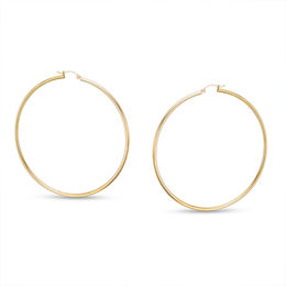 70mm Hoop Earrings in 10K Gold