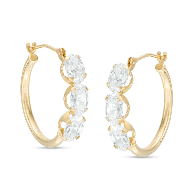 earrings tone hoop gold two switzerland flat little products