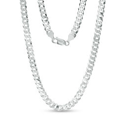 Men's 140 Gauge Curb Chain Necklace in Sterling Silver - 22""