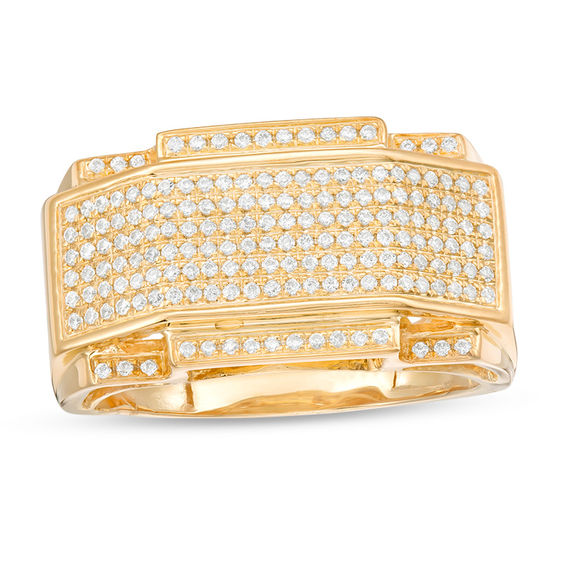 Men's 1/2 CT. T.W. Composite Diamond Art Deco Ring In 10K Gold