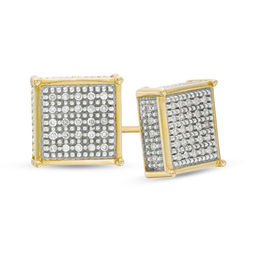 1/5 CT. T.W. Composite Diamond Square Stud Earrings in 10K Gold