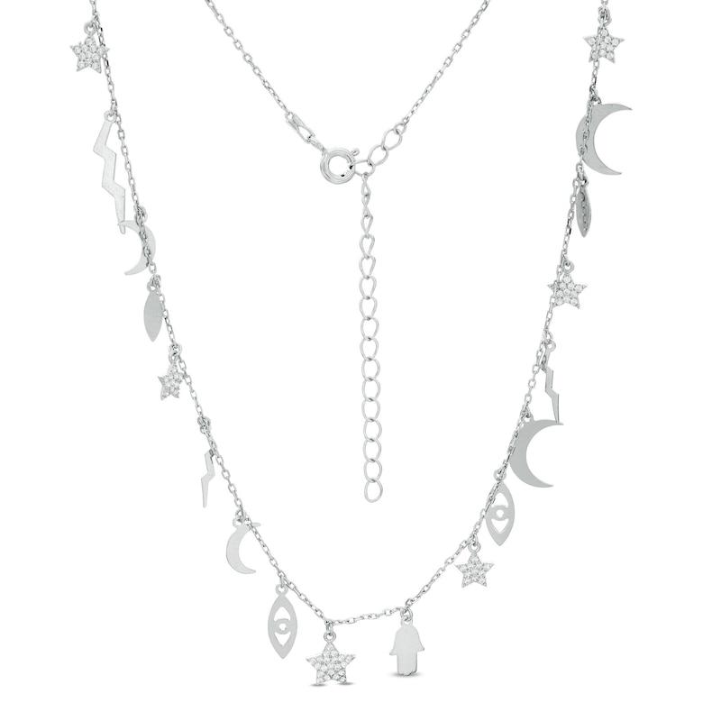 Celestial Aquamarine /& Chrome Chalcedony Silver Necklace